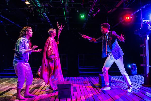 Allyson Boate (Miranda), Christopher Henley (Prospero), and Miles Folley (Ferdinand)  Photo