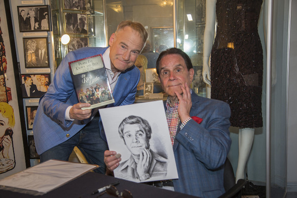 Fellow impressionist and artist, Jim Meskimen, who presented an image he did of Mr Little to Rich Little