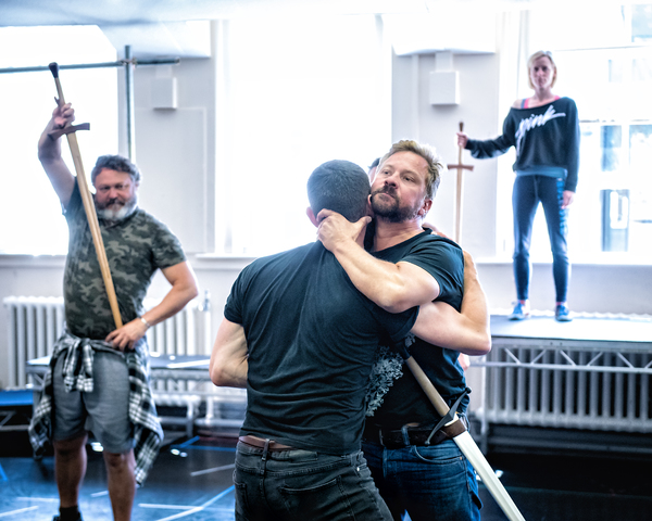Paul Hawkyard (Macduff), Gareth Aled (Lennox), Richard Standing (Macbeth), Clare Corbett (Witch)