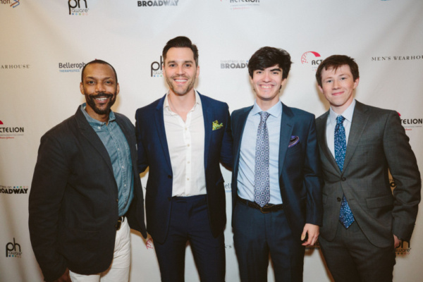 4th Annual Breathless on Broadway  On the Red Carpet, Broadway Performers,  T. Oliver Reid, Ryan Silverman, Zach Rand and  Zach Sayles