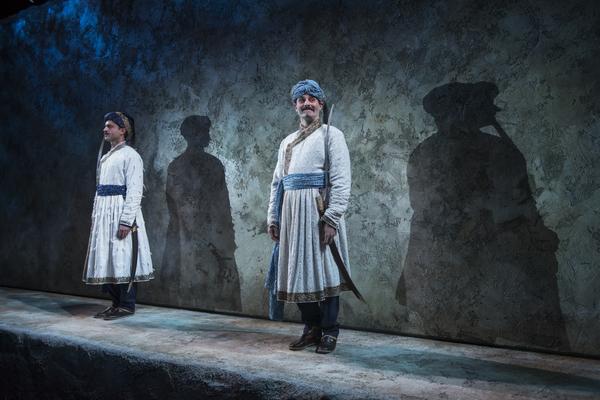 Omar Metwally (Humayun) and Arian Moayed (Babur)