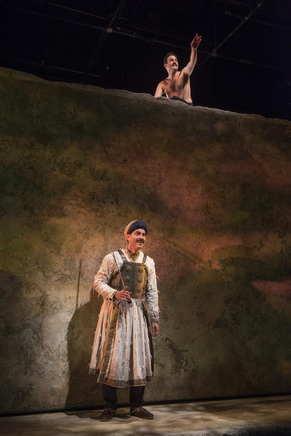Omar Metwally (Humayun) and (Above) Arian Moayed (Babur)