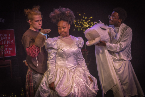 Zach Fifer, Starr Kirkland & Caleb Anthony Green in CINDY. Photo by Clinton B Photogr Photo
