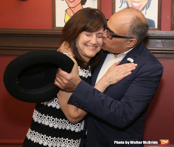 Photo Coverage: LuPone, Lenk, and Butz Help Celebrate the Unveiling of David Yazbek's Portrait at Sardi's