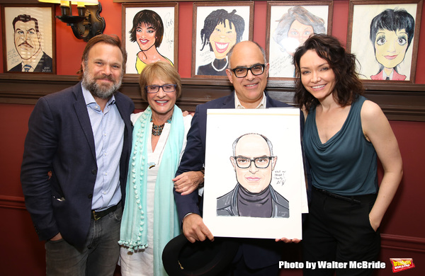 Norbert Leo Butz, Patti LuPone, David Yazbek and Katrina Lenk