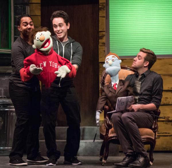 Joe Farrell, Aaron Lockman & Josh Kemper in Avenue Q at Metropolis Photo