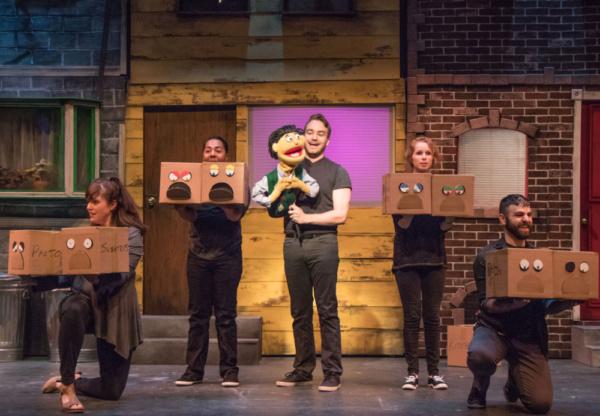 Alex Newkirk (Princeton) and cast in Avenue Q at Metropolis
