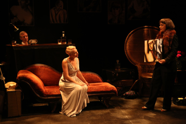 L-R: Joseph Atkins, Jessica Walker, Alexandra Mathie in ALL I WANT IS ONE NIGHT. Photo by Carol Rosegg
