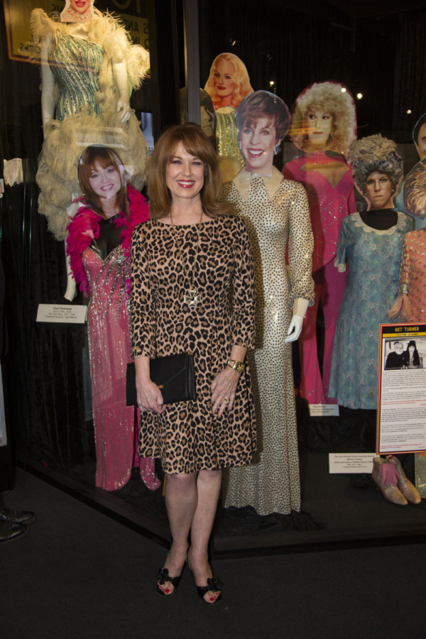 Lee Purcell with costumes worn by fellow Redheads, Judy Tenuta and Carol Burnett, on  Photo