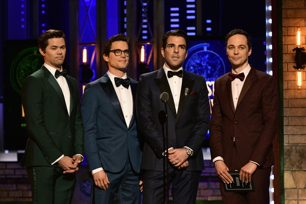 Andrew Rannells, Matt Bomer, Zachary Quinto, & Jim Parsons Photo