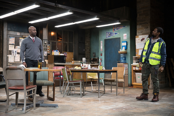DB Woodside and Amari Cheatom in Skeleton Crew at the Geffen Playhouse. Photo by Chris Whitaker.