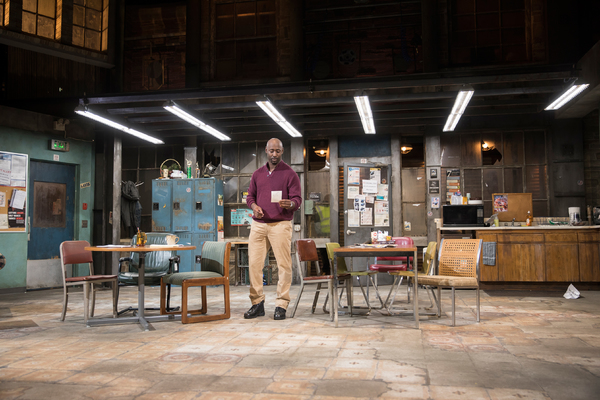 DB Woodside in Skeleton Crew at the Geffen Playhouse. Photo by Chris Whitaker.   Photo
