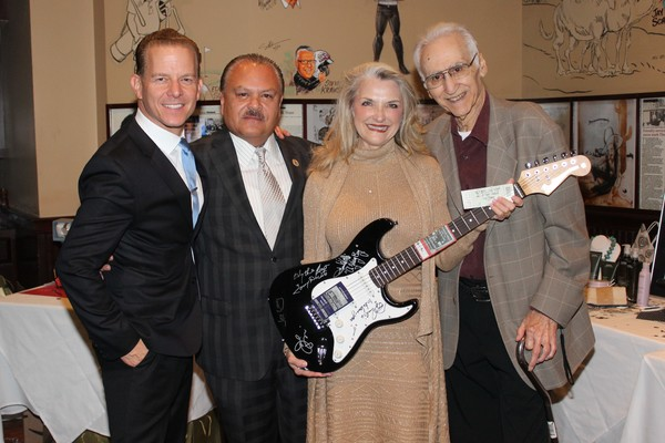 Christian Hoff, William Lazaro, Wynonia Lazaro and Joe Long Photo