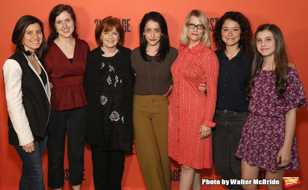 Director Lila Neugebauer (center) with her stars of 'Mary Page Marlowe' : Susan Pourfar, Emma Geer, Blair Brown, Kellie Overbey, Tatiana Maslany, and Mia Sinclair Jenness