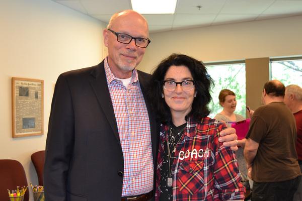 Executive Director Edgar Dobie and Director Tina Landau