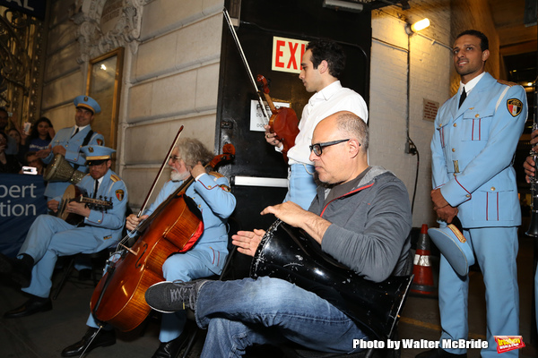 George Abud, Ari'el Stachel and David Yazbek with the Alexandria Ceremonial Police Orchestra