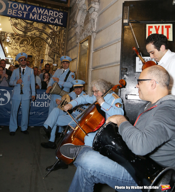 George Abud and David Yazbek with the Alexandria Ceremonial Police Orchestra