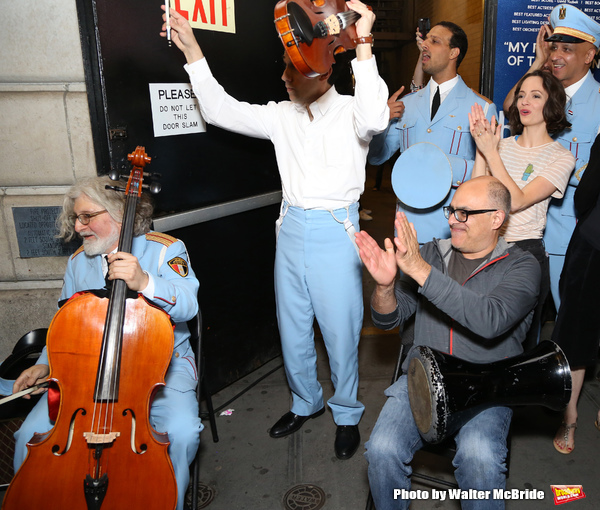 Photo Coverage: THE BAND'S VISIT Celebrates Tony Wins With Post-Show Jam Outside the Theatre