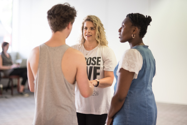 Photo Flash: Inside Rehearsal For Shakespeare in the Squares' AS YOU LIKE IT