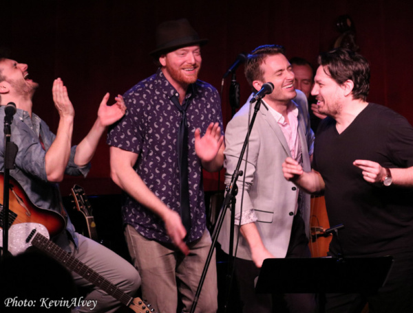 Photo Flash: MILLION DOLLAR QUARTET Cast Members Reunite at Birdland