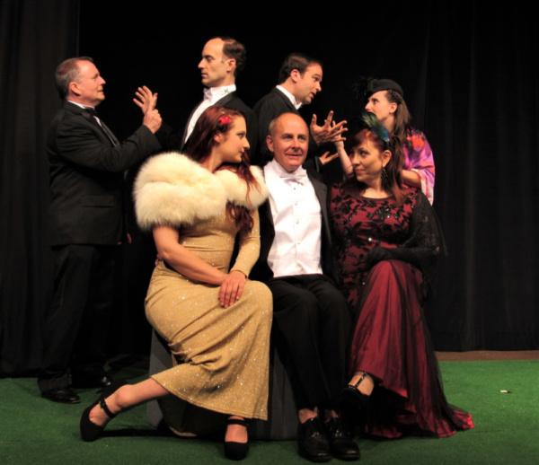 Back - Fergus Milton, Tom Steenburg, Nicholas Lombardo, Danielle Conti Front - Lydia  Photo