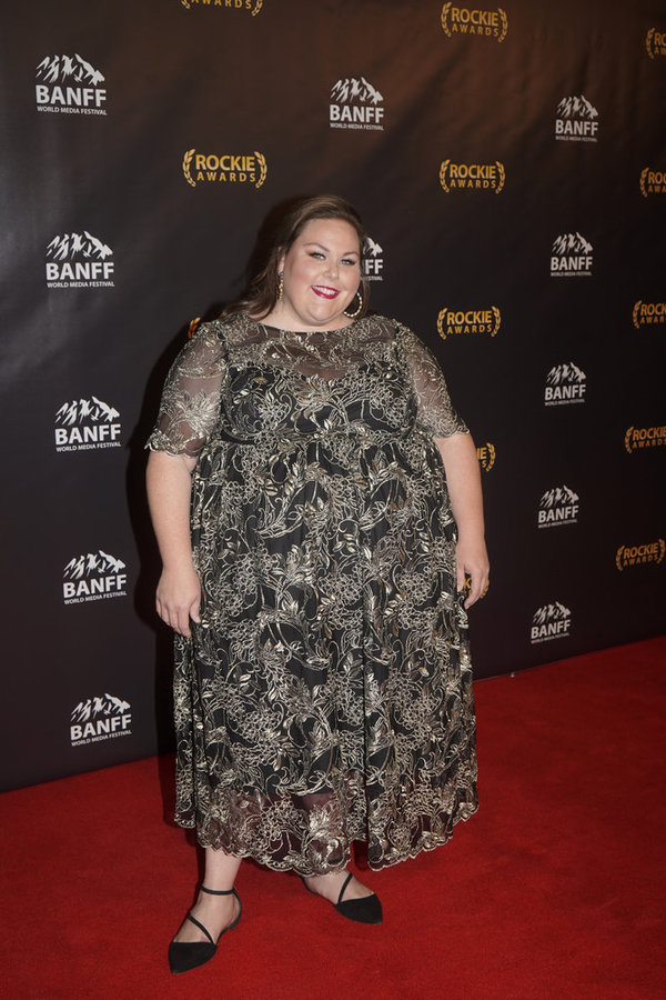 "NBCUNIVERSAL EVENTS --  ""Banff World Media Festival"", Fairmont Banff Springs, Banff, Alberta, Canada; Rockies Awards Gala Ceremony -- Pictured: Chrissy Metz accepting the ""Program of the Year"" Award for ""This Is Us"" -- (Photo by: Paul Drinkwater/NBCUniver"