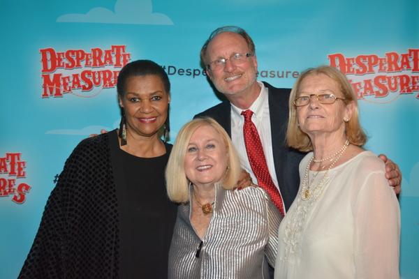 Willette Klausner, Pat Addiss, Ken Denison and Mary Cossette