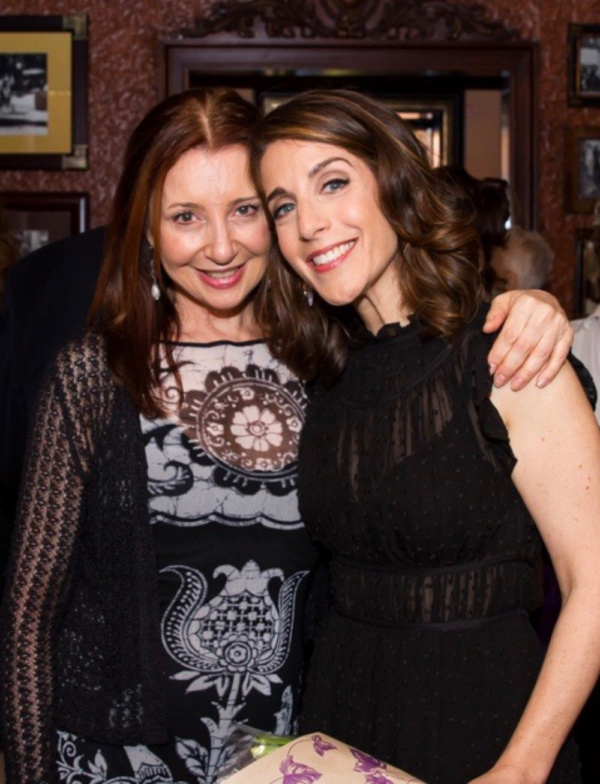 Rachel Ulanet with her pal and fellow thespian, Donna Murphy, after the show. Photo:  Photo