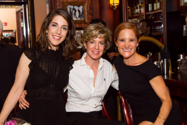 Rachel Ulanet with Alix Strauss and Lisa Wachtell, all Stage Door Manor alums.  Photo Photo