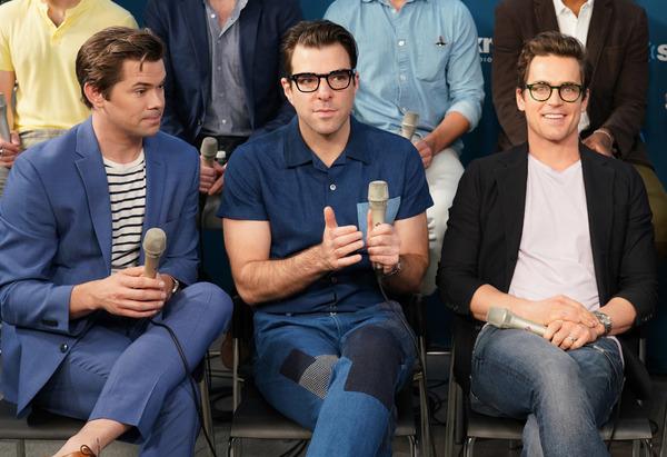 Actors (L-R) Andrew Rannells, Zachary Quinto andMatt Bomer