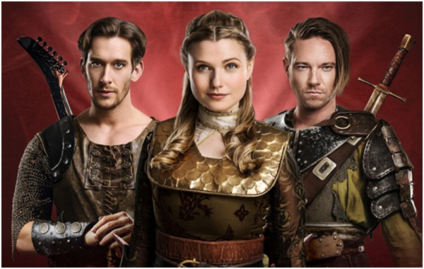 Knights of the Rose cast - L-R: Oliver Saville (Hugo) Katie Birtill (Hannah) Andy Mos Photo