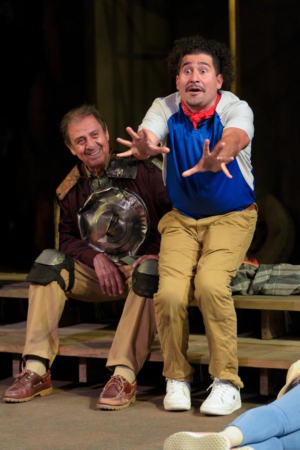 Emilio Delgado (Quixote) and Juan Amador (Sancho Panza)