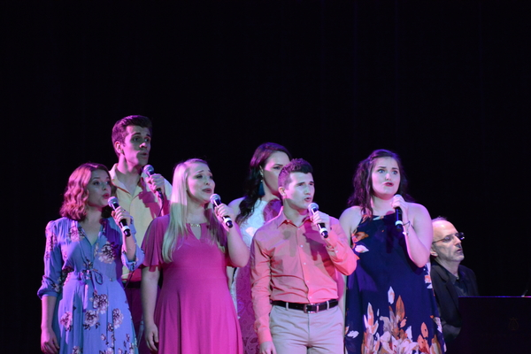 The BBTY Chorus that includes-Emma Camp, Lauren Kolas, Philippa Lynas, Ryan McCoville, Sophie Rapiejko and Matt Weinstein