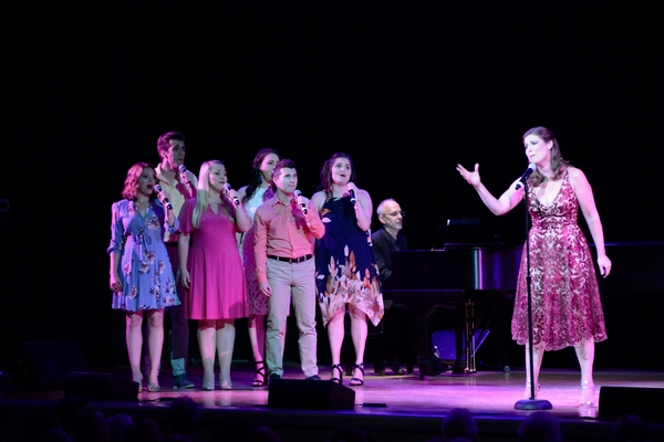 Marina Jones with The BBTY Chorus that includes-Emma Camp, Lauren Kolas, Philippa Lynas, Ryan McCoville, Sophie Rapiejko and Matt Weinstein
