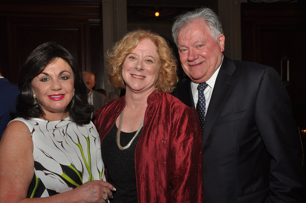 Broadway League President Charlotte St. Martin, TDF Executive Director Victoria Bailey, Shubert Organization President Robert Wankel