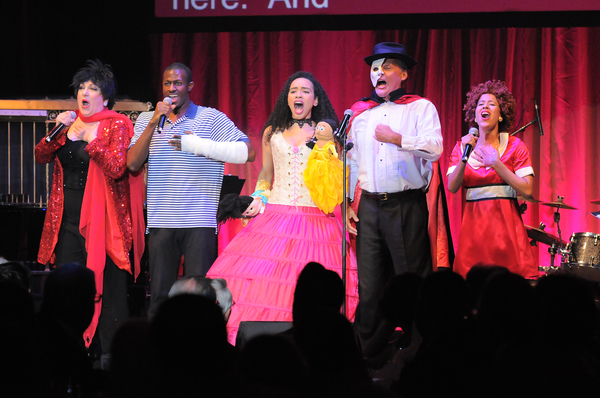 "Forbidden Broadway cast performs original lyrics to ""I Put My Hand in There� and ""NYC� celebrating TDF"