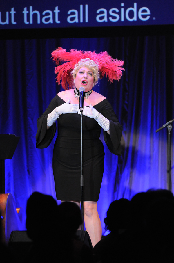 "Forbidden Broadway parody of Bette Midler in ""Hello, Dolly!�"
