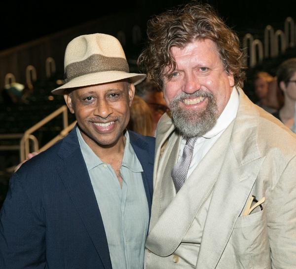 Director Ruben Santiago-Hudson and Public Theater Artistic Director Oskar Eustis
