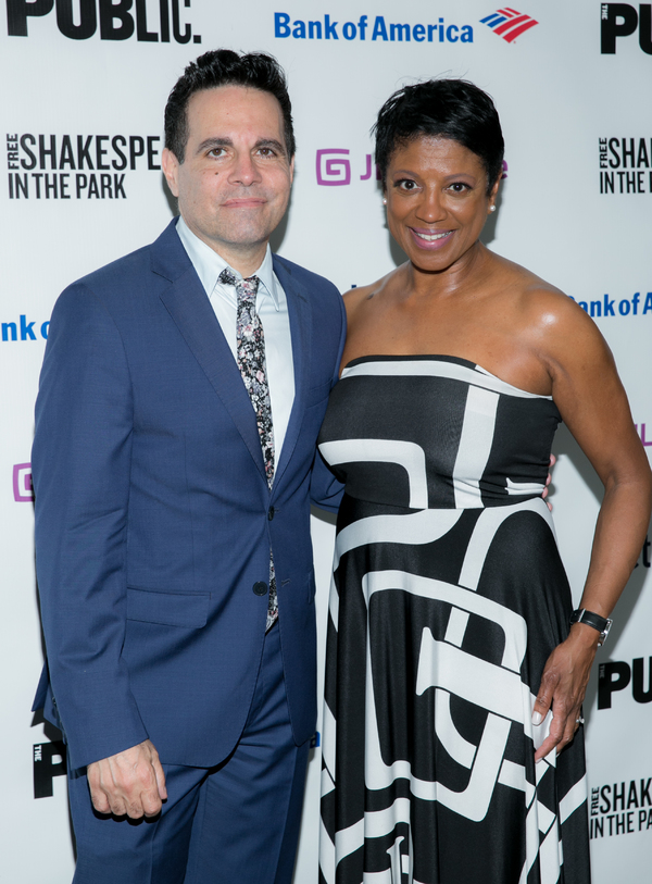 Mario Cantone and Marva Hicks