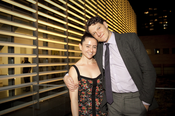 Director Danya Taymor with Gabriel Ebert
