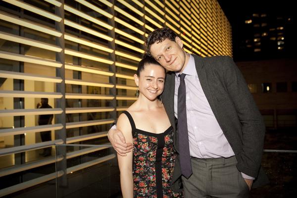 Director Danya Taymor with Gabriel Ebert