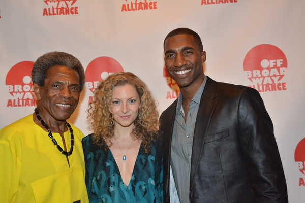 Andre De Shields, Lauren Molina and Garrett Turner