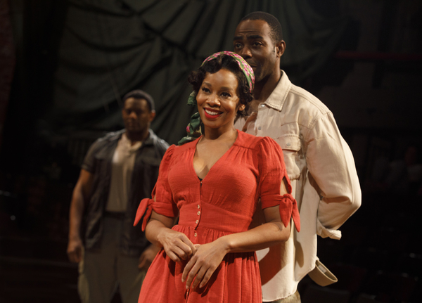David Aron Damane, Anika Noni Rose, Clifton Duncan. Photo by Joan Marcus