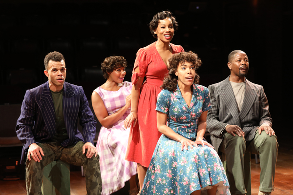 Justin Keyes, Soara-Joye Ross, Anika Noni Rose, Erica Dorfler, Lawrence E. Street. Photo by Joan Marcus