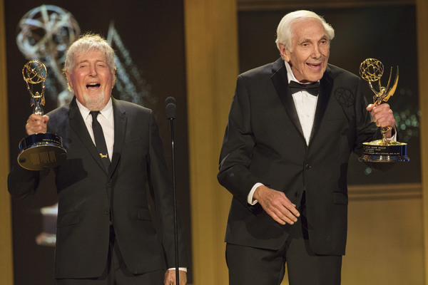 Sid & Marty Krofft accept their Daytime Lifetime EmmyÂ�® Awards from NATAS