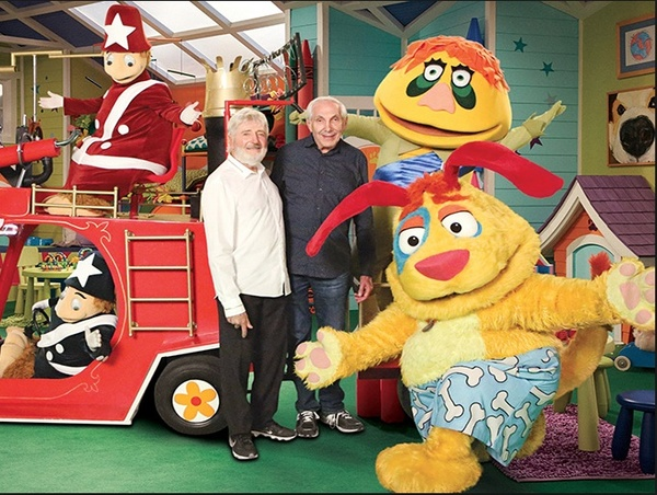 Sid & Marty Krofft with characters from HR Pufnstuff and Mutt & Stuff