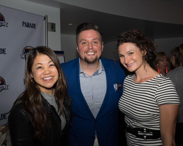Charlotte Mary Wen and Lauren Decierdo with Executive Producer/Artistic Director T.J. Dawson