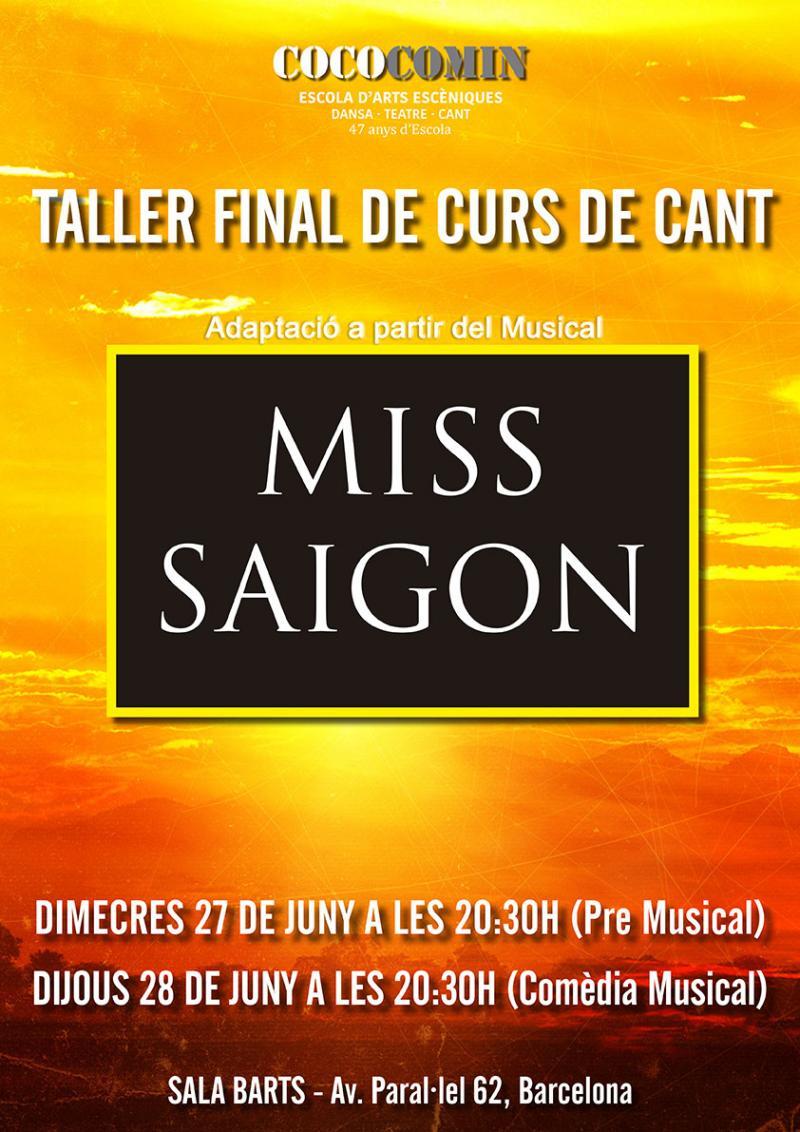 L'ESCOLA COCO COMIN presenta una versión en concierto de MISS SAIGON