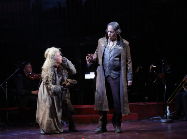 Andrea Burns (The Beggar Woman) and Terrence Mann (Todd)