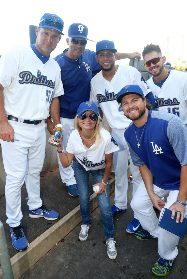Photo Flash: Kristin Chenoweth Throws The First Pitch And Gets Her Bobblehead